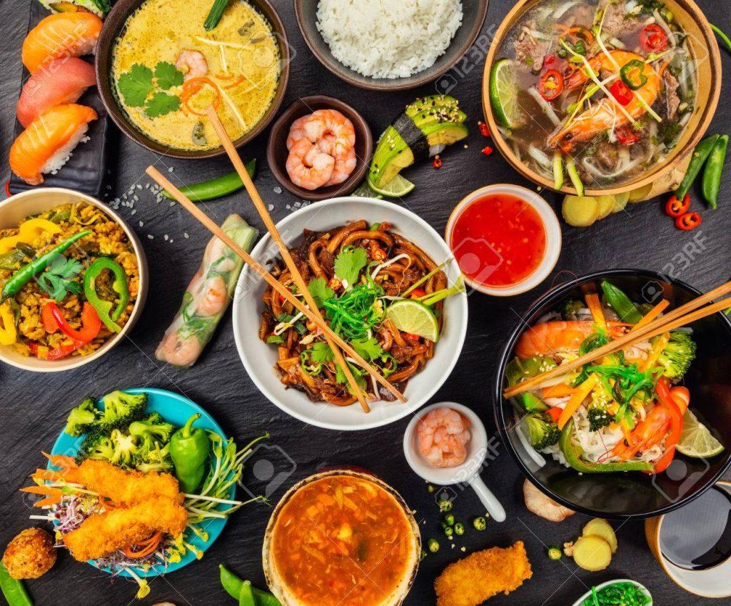 ingredientes de la comida oriental