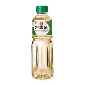 Botella de sake para cocina