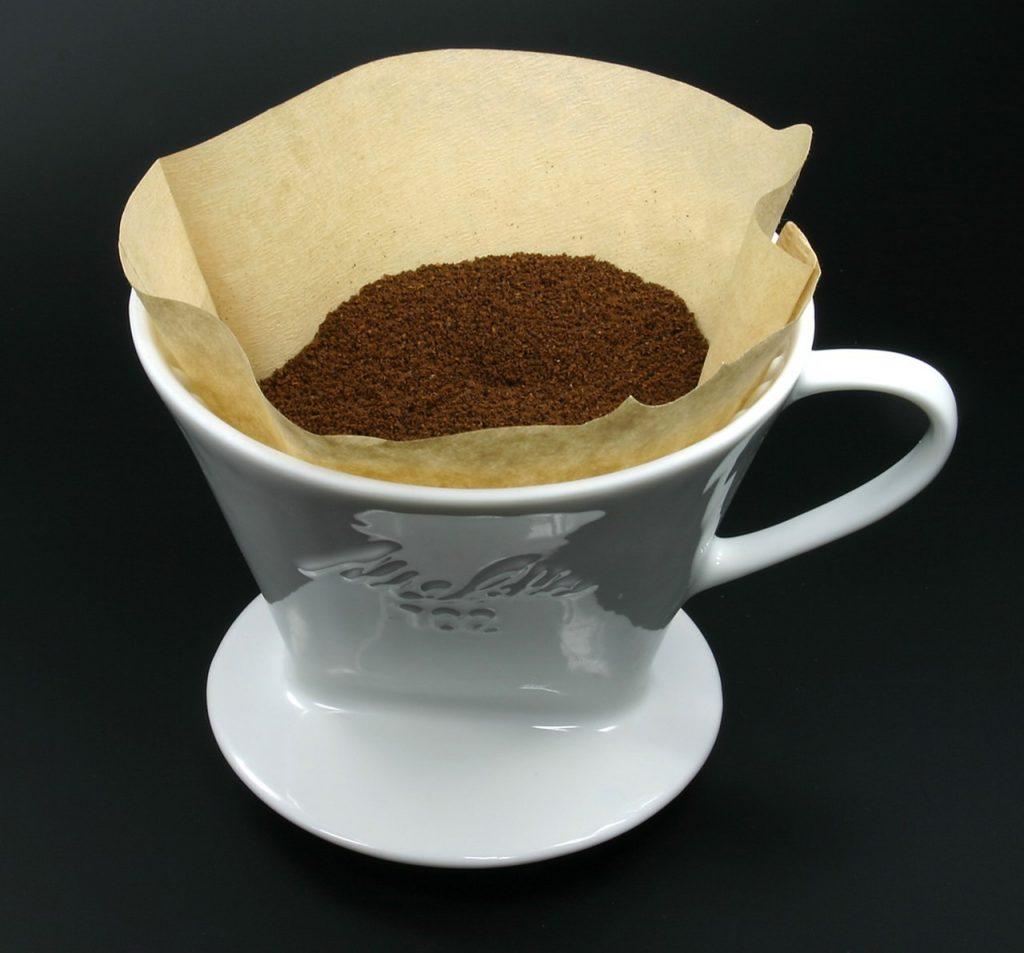 café preparado con filtro